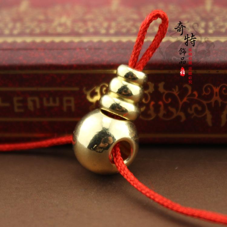 尼泊尔黄铜饰品配件 藏式纯铜三通佛头 佛珠108颗法器配件批发