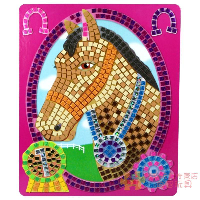 马幼儿园手工小班中班大班创意手工作品骑术套儿童eva马赛克贴画图片