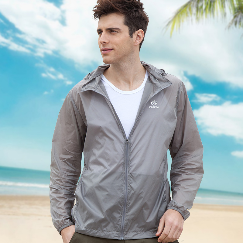 新款户外运动防紫外线男超薄透气速干防晒服长袖皮肤风衣春夏季潮