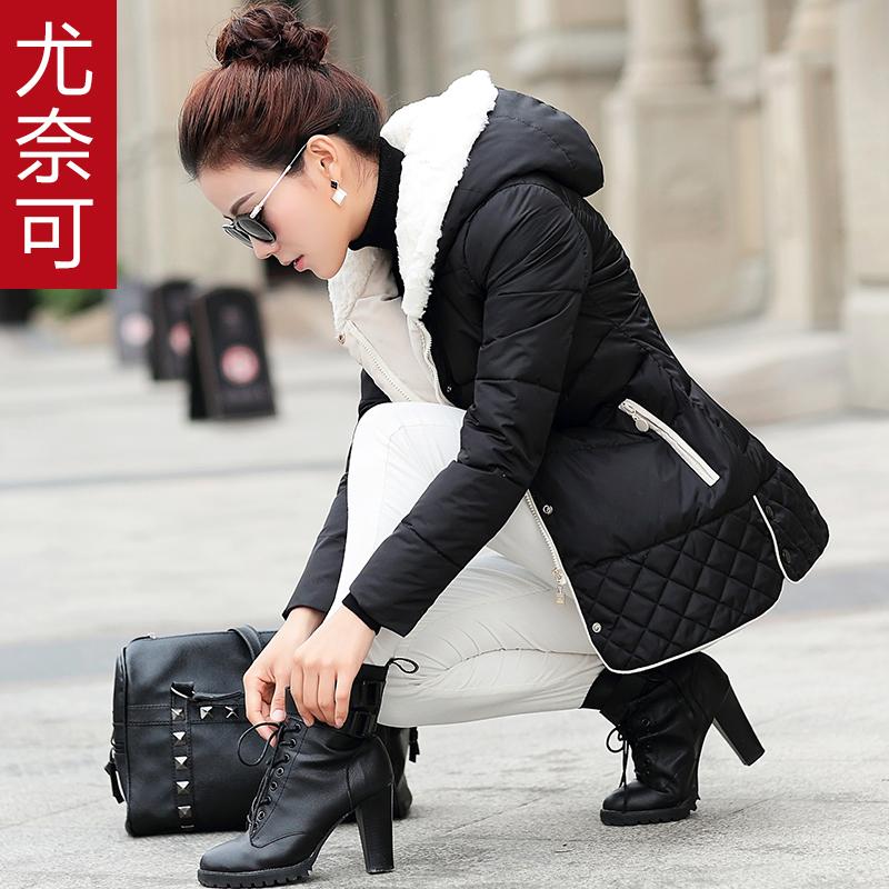 棉服女款2015潮冬装新款韩版修身女装棉衣外套加厚大码中长款棉袄