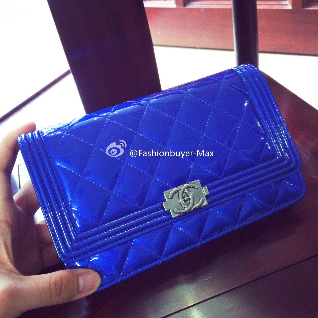 国内现货 Chanel香奈儿 WOCBOY 电光蓝walletonchain2015春夏