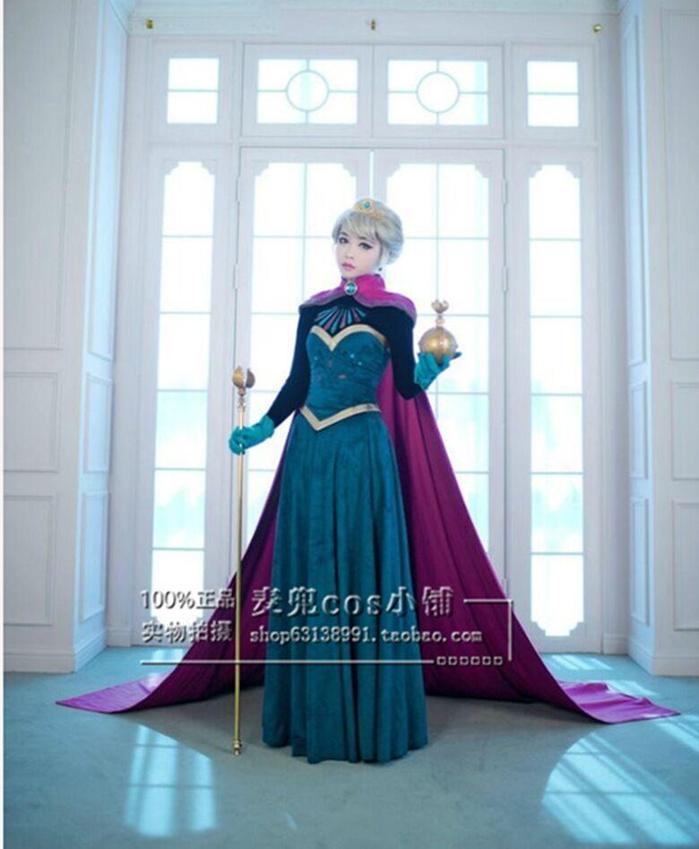 动漫新款成人冰雪奇缘安娜公主裙艾尔莎礼服裙cosplay ANNA连衣裙
