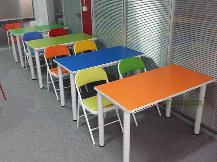 厂家批发学校中小学生辅导班培训桌美术桌幼儿园教学书桌椅