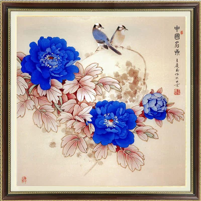 最新款满绣油画十字绣花瓶花卉系列卧室十字绣花草小幅欧式竖版图