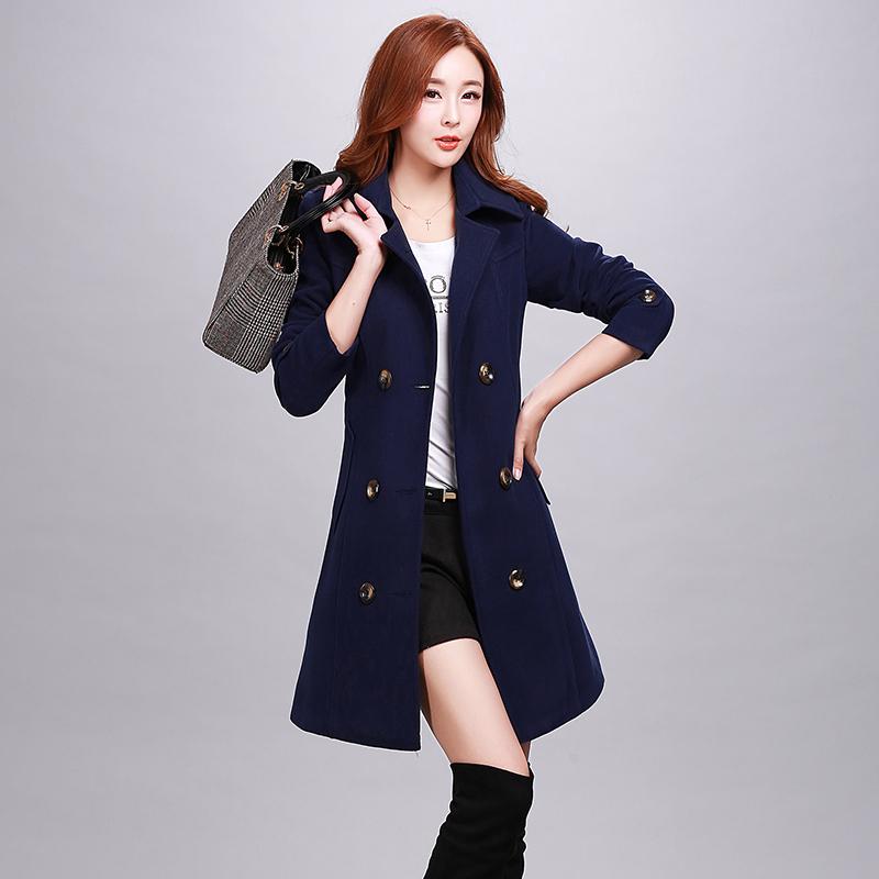 红松女装艾米子萱羊毛大衣2015秋冬装新款艾玛莉大码毛呢外套蔻玲