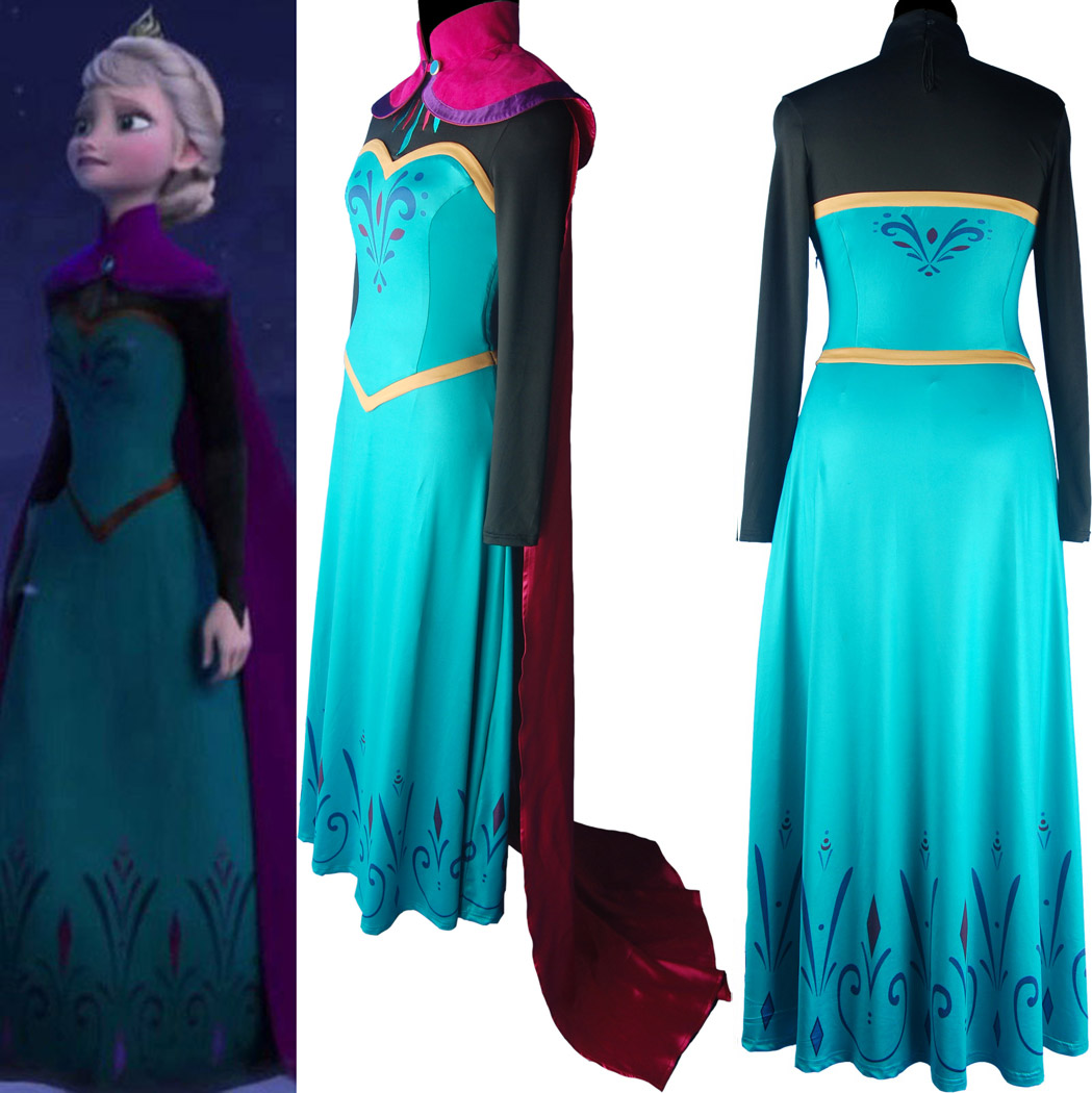 ����COS ��ʥ�ڷ�װ ��ѩ��Ե ����ɯ Frozen cosplay costume