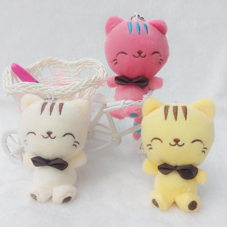 可爱猫咪公仔毛绒大脸猫大尾巴微笑猫咪招财猫玩具礼物小挂件匙扣
