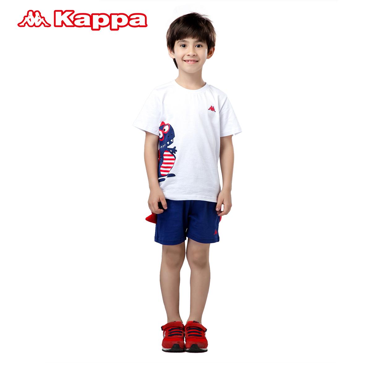 Kappakids童装 2015新品 男女儿童运动服短袖短裤套装|K05I2XL13