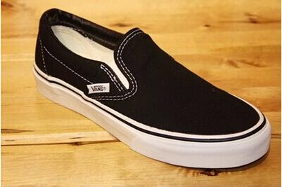 正品包邮VANS/万斯懒人鞋男鞋女鞋纯黑帆布鞋Slip On|VN-0EYEBLK