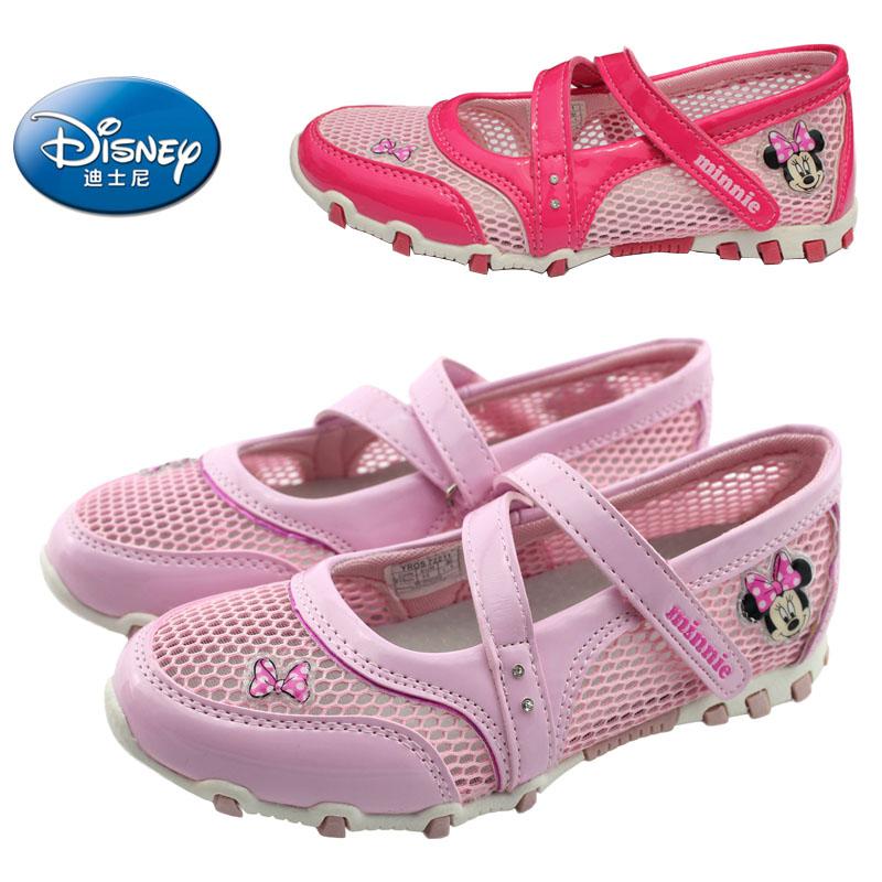 迪士尼童鞋女童皮鞋单鞋 2015春夏芭比大童单网运动鞋公主鞋凉鞋