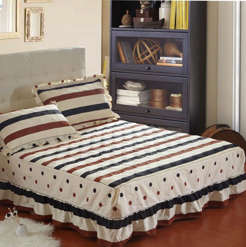 靓梦缘全棉夹棉床裙单件加厚床罩纯棉床套床盖床单1.8/1.5米特价