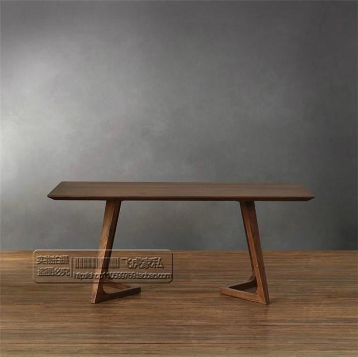 特价北欧传世经典北美黑胡桃木家具欧式西餐桌