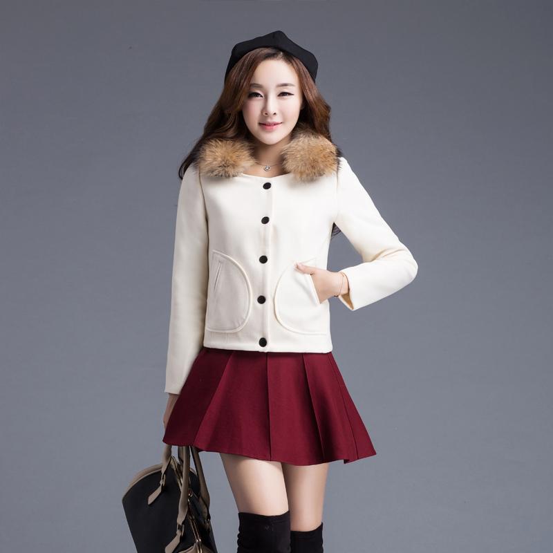 红松女装艾米子萱羊毛大衣2015秋冬装新款艾玛莉大码毛呢外套燕姿