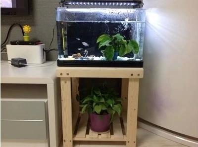 实木鱼缸架子花架置物架简易盆栽架 床头灯架收纳架定做