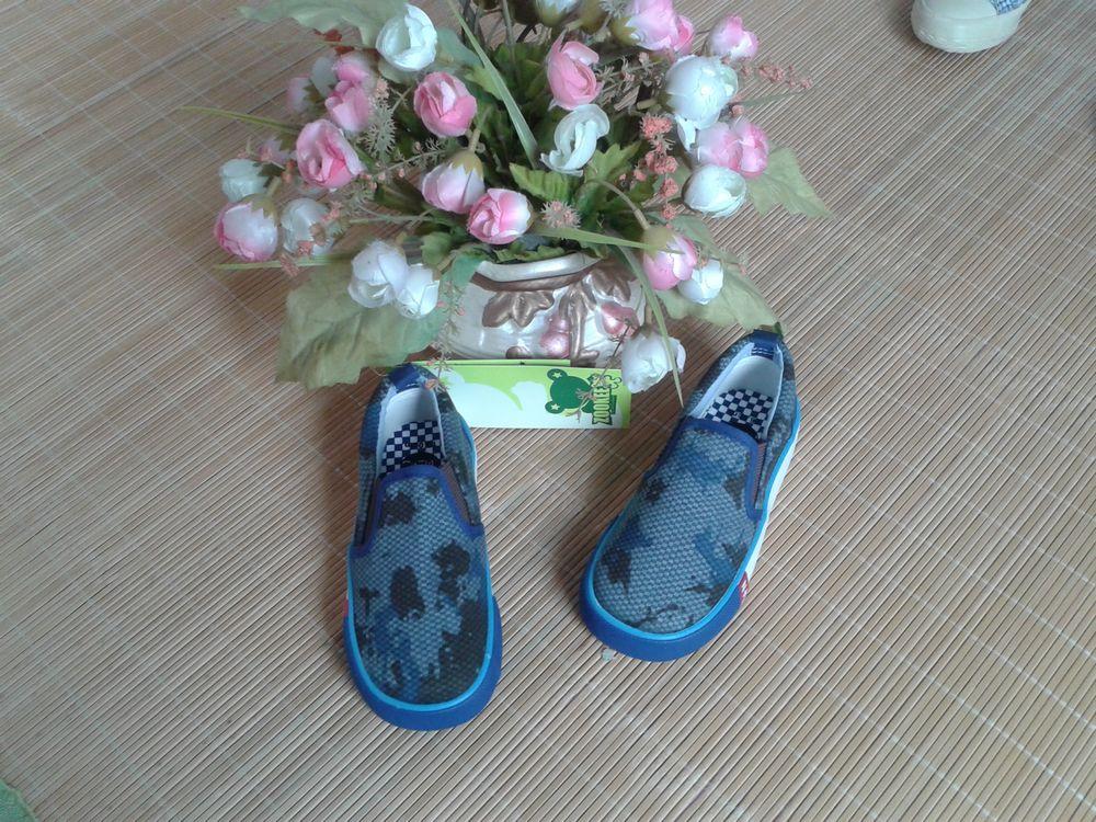 包邮第二双减8:日单新款正品专柜ZOOKEE迷彩帆布鞋童鞋(14码)