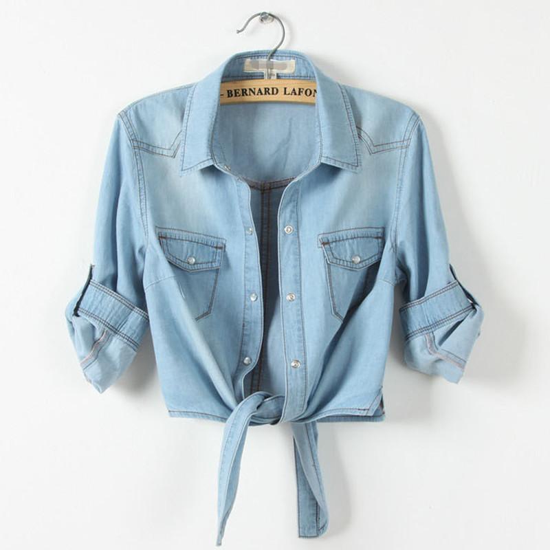 夏装新款韩版胖mm短袖薄款牛仔大码小坎肩衬衫打结衬衣披肩女外套