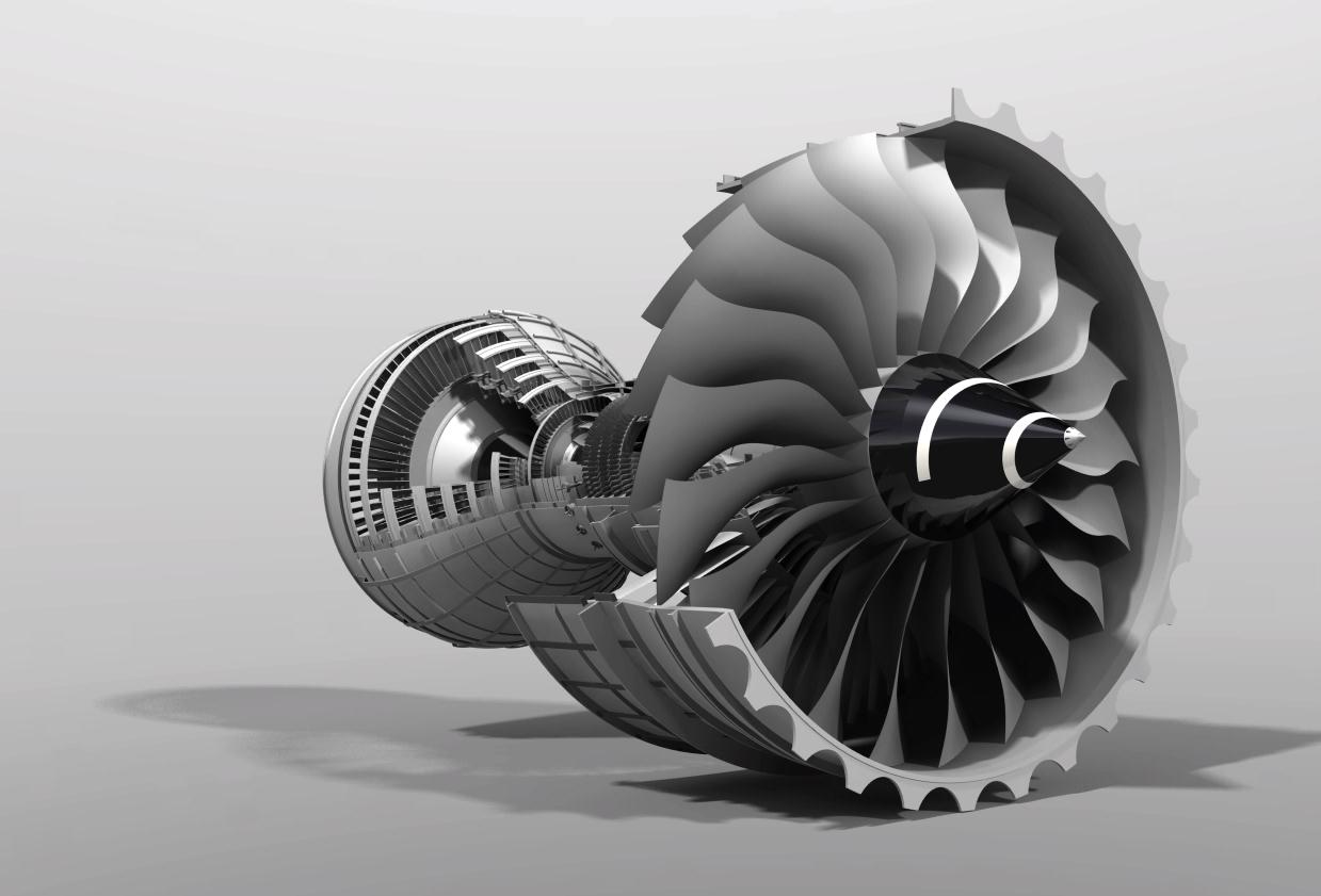 涡轮机_大型涡轮风扇喷气发动机图纸(3D电子版)CAT格式 附说明