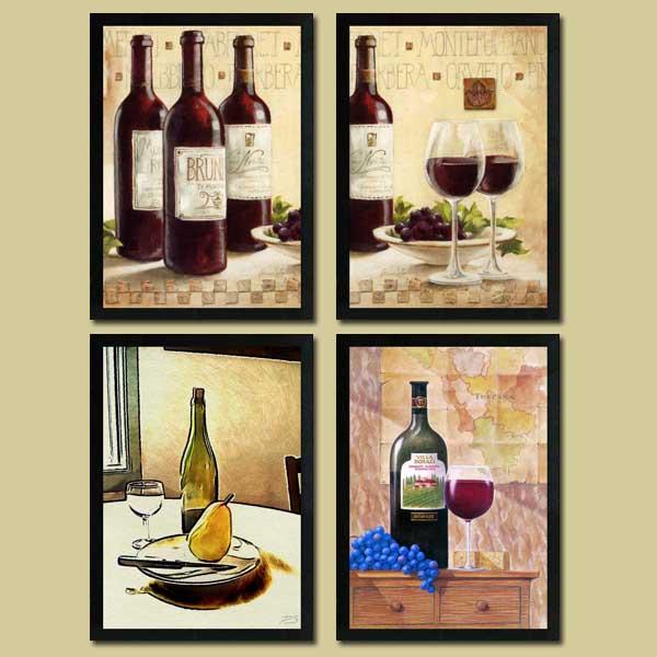 红酒装饰画 红酒杯装饰画