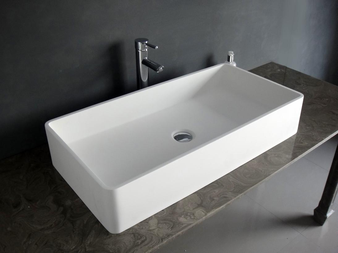 台上盆 洗脸盆 洗手盆人造石洗手台盆 方形盆b060 简约洗手台