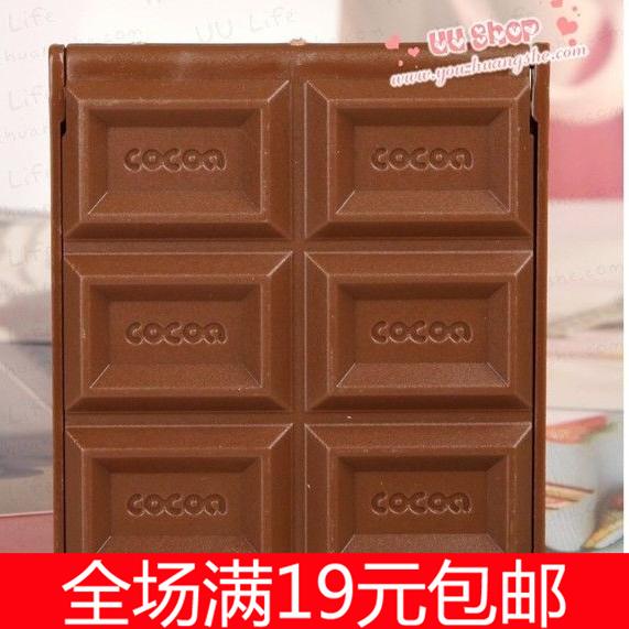 【6141】创意巧克力6格便携化妆镜随身小镜子  折叠小镜子