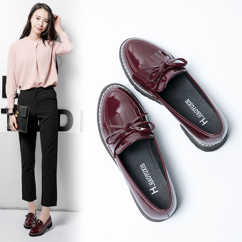 日系单鞋女春洛丽塔原宿风软妹小皮鞋女英伦学院风低跟学生平底鞋