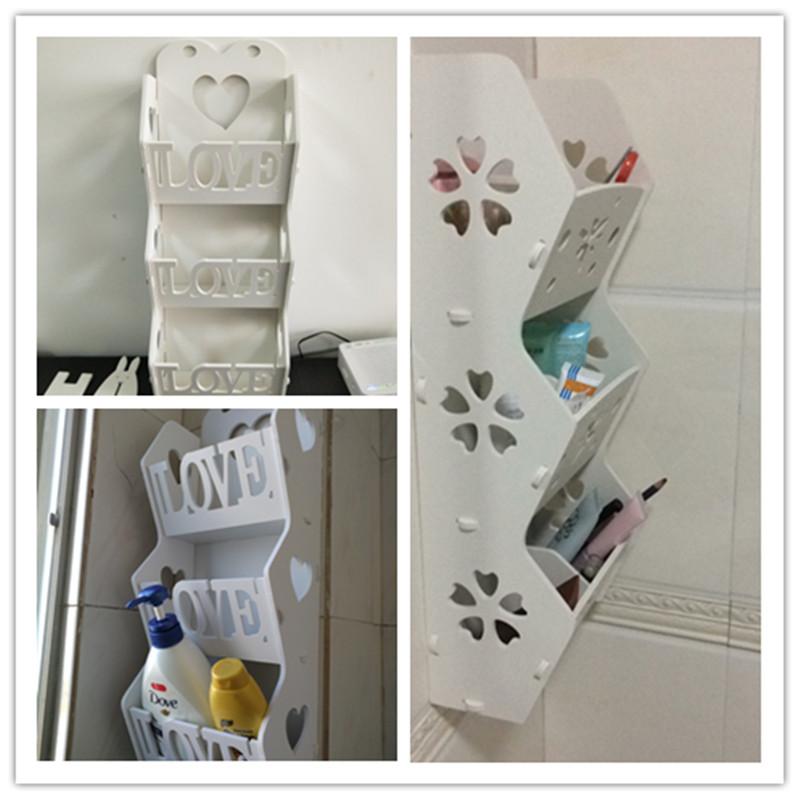 浴室收纳盒塑料卫生间壁挂式化妆品墙上厕所多层收纳置物架打孔