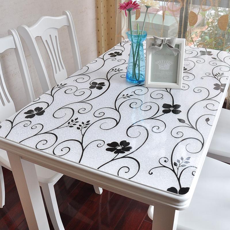 品牌2017纯色PVC简约现代防水透明塑料桌面复古桌布彩色软质玻璃