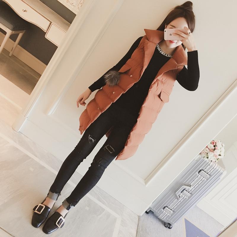 2017新款秋冬装中长款棉马甲韩版宽松显瘦羽绒棉衣女士背心外套潮