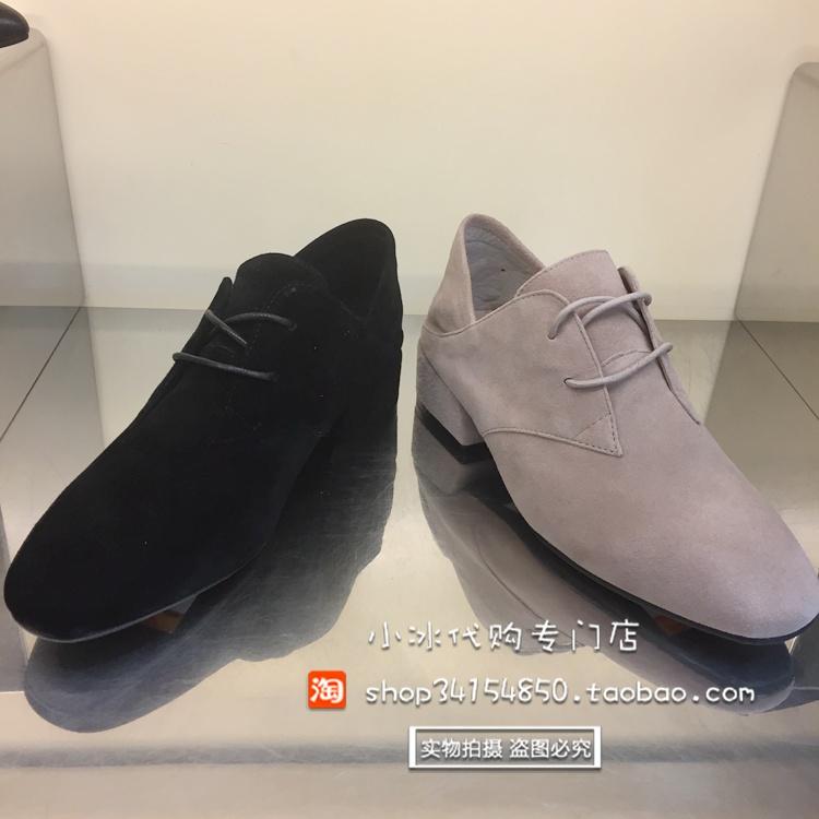 顺丰包邮 思加图专柜正品17年系带粗跟女单鞋 SV7N1101 7N1101