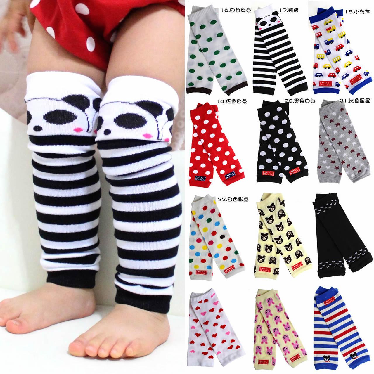 特价外贸尾单儿童潮宝宝腿套袖套爬行垫保暖护袖套1-6岁卡通针织