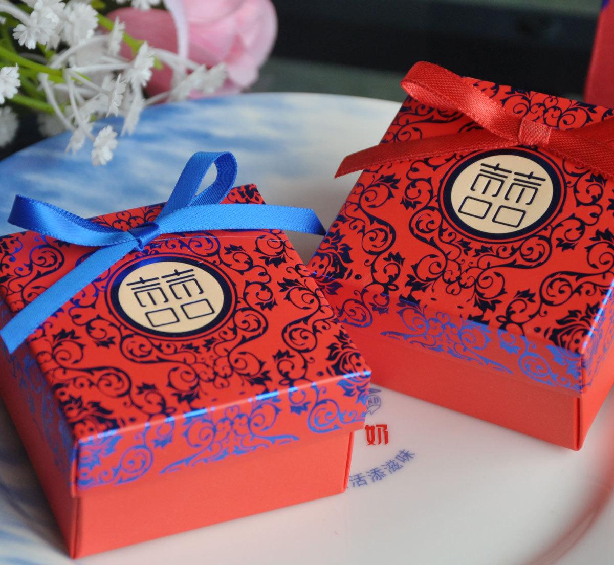 中式盘扣喜糖盒子图片