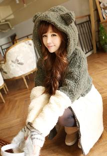 2013冬季新款女棉衣甜美韩版加厚保暖可爱中长款毛毛皮草棉袄外套