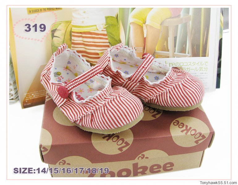 日本zookee经典好款小美女帆布鞋儿童单鞋女童舞蹈鞋子孩子童鞋