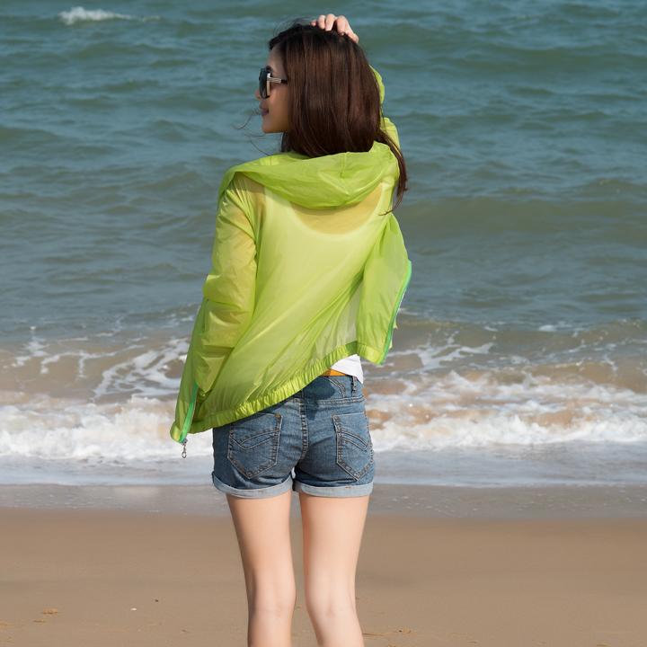 防晒衣女夏2015长袖正品大码防晒衫超薄短外套沙滩防晒服防紫外线