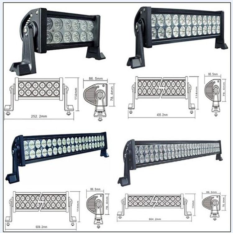汽车LED射灯 强光灯越野改装LED长条灯车顶灯车外灯越野射灯 超亮