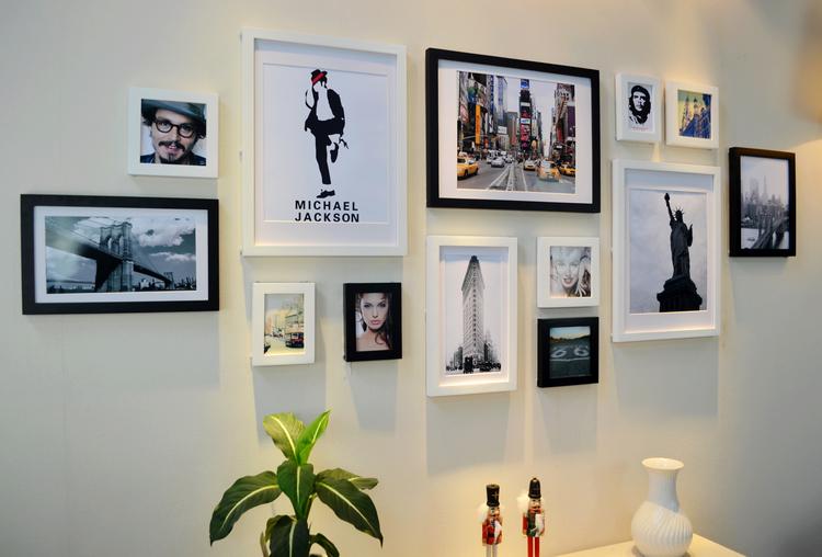 13 - Bilderwand wohnzimmer ...