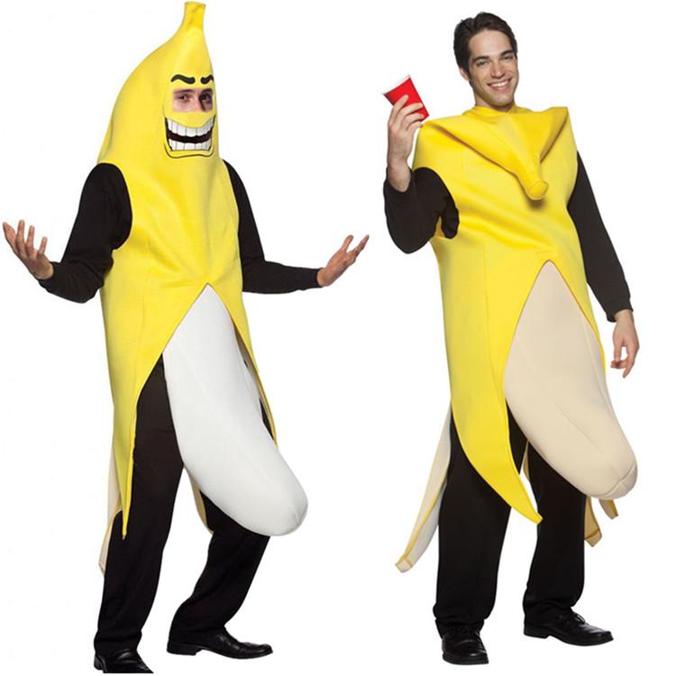 性感水果搞笑香蕉服装结婚整人狂欢节派对香蕉表演服装节日舞台装