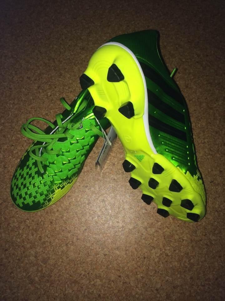 东京正品adidas猎鹰13 LZ 2代 absolado HG中端绿色足球鞋 Q21706