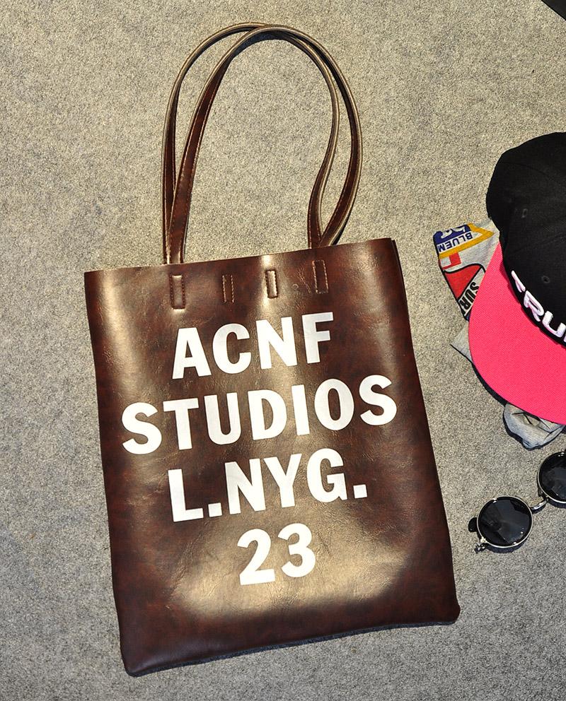 2014新款韩国原宿风字母单肩女包大包包 欧美简约时尚手提购物袋
