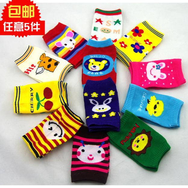 可爱韩版婴幼儿童卡通针织全棉袖套 多用护袖男女宝宝护膝套包邮