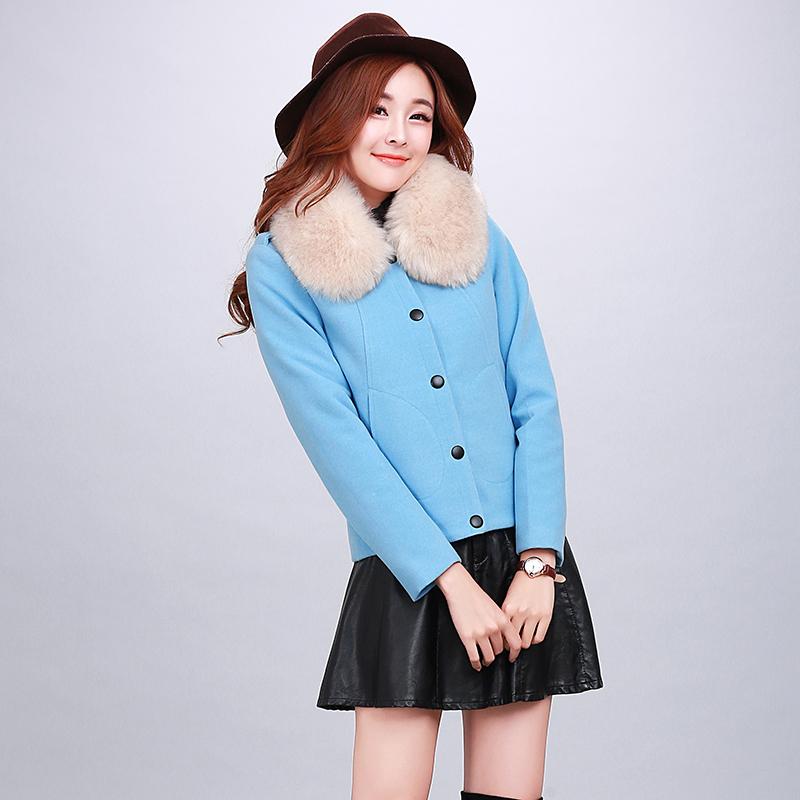 红松女装艾米子萱羊毛大衣2015秋冬装新款艾玛莉大码毛呢外套摩奥