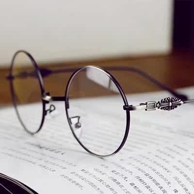 时尚新品复古金属圆框眼镜架 2015潮男女配近视文艺平光镜