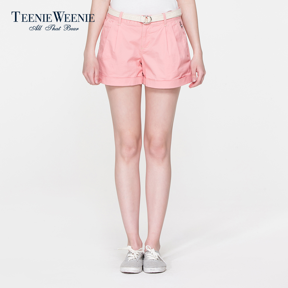 Teenie Weenie小熊2015专柜正品女装纯色休闲短裤TTTH5A691I