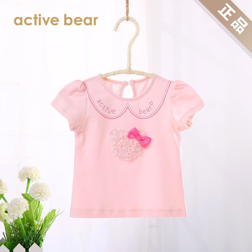 2015童装宝宝T恤女夏装婴儿纯棉衣服女童短袖上衣外套0-1-2-3-4岁