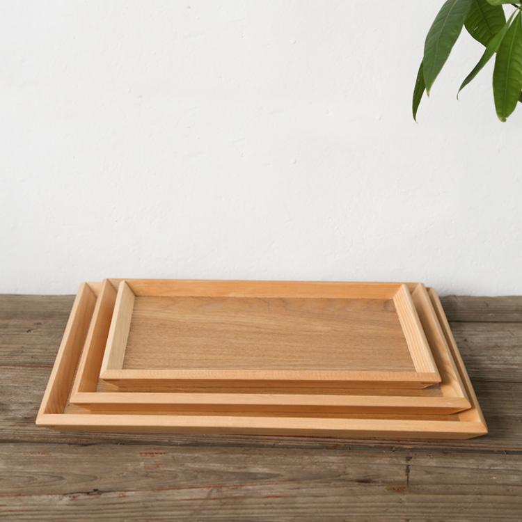 日式实木茶托盘 功夫茶具茶盘 创意大号长方形酒店托盘 木质餐盘