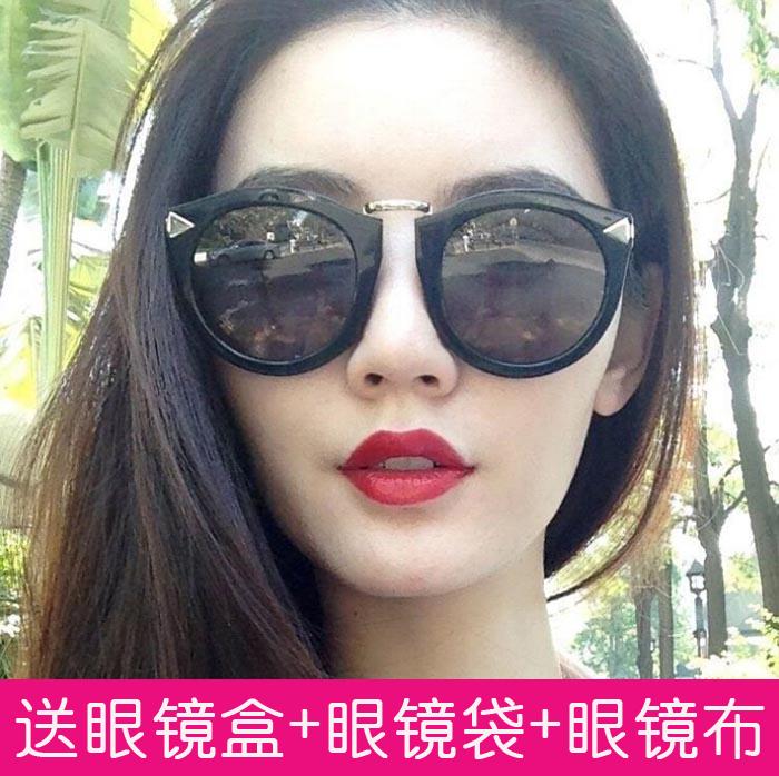 太阳镜女潮2015圆脸李小璐同款偏光眼睛长脸遮阳墨镜优雅明星个性