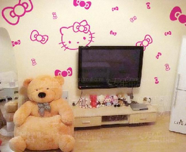 非墙贴墙体彩绘墙绘手绘墙模壁画墙画自己装修背景墙电视墙 M295