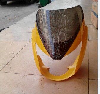 国产异形款佛斯弟125 路霸 摩托车头罩,大灯总成 大灯支架 玻璃