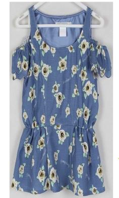 朵以2015夏专柜正品棉麻露肩电脑印花上衣30YX10329 吊牌价229