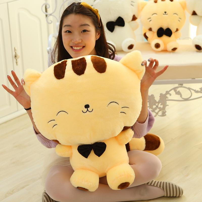 可爱猫咪公仔大尾巴大脸猫 毛绒玩具抱枕布娃娃 送女生生日礼物